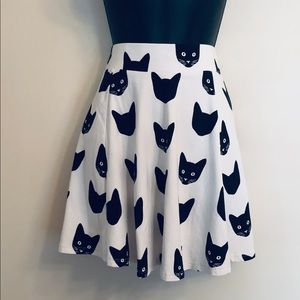 Black Cat Mini Skirt Small